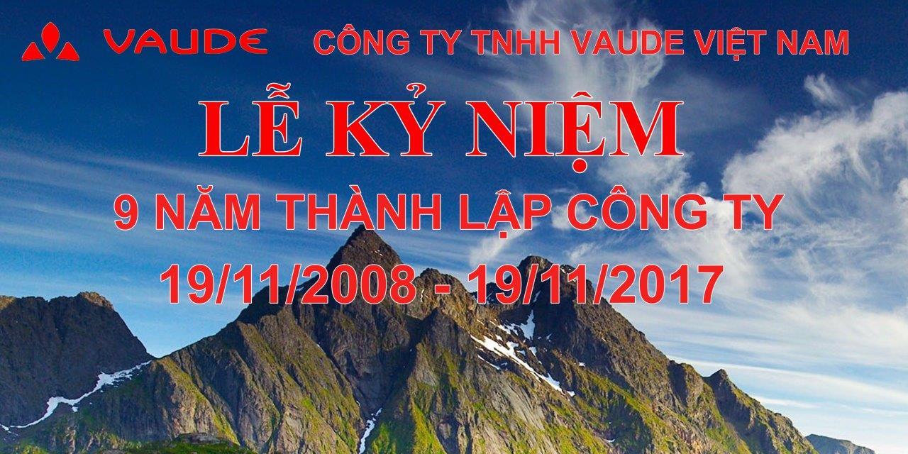 Lễ kỷ niệm 9 năm thành lập Công ty TNHH Vaude Việt Nam
